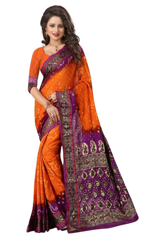 Multi Color Art Silk Saree - JNavrang-3