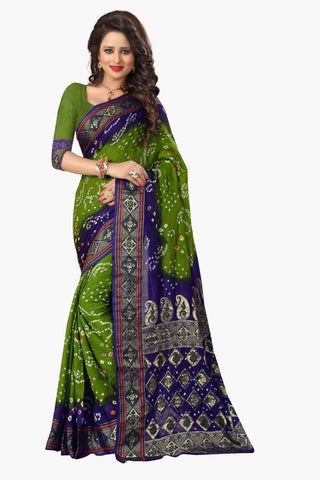 Multi Color Art Silk Saree - JNavrang-4