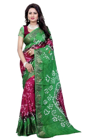 Multi Color Art Silk Saree - JNavrang-5