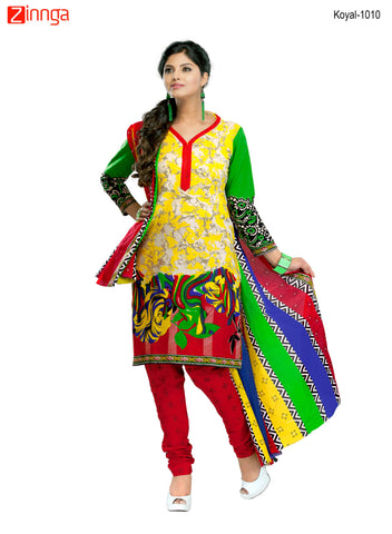 Multi Color Cotton  Stitched Salwar  - Koyal-1010