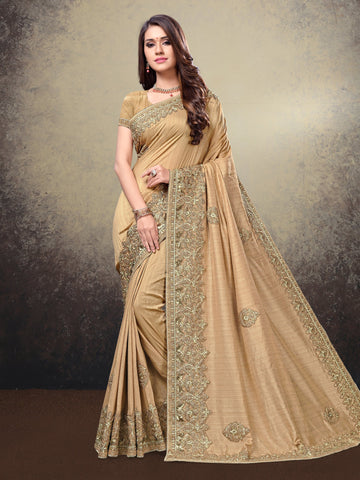 Beige Color Silk Saree - LO91150-E