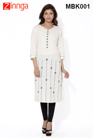 MIUS FASHION-Women's Beautiful Cotton Stitched Kurti - MBK001