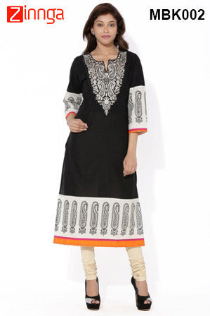 MIUS FASHION-Women's Beautiful Cotton Stitched Kurti - MBK002