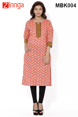 MIUS FASHION-Women's Beautiful Cotton Stitched Kurti - MBK004