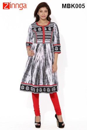 MIUS FASHION-Women's Beautiful Cotton Stitched Kurti - MBK005