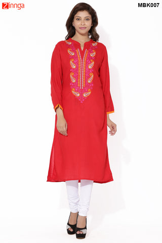 MIUS FASHION-Women's Beautiful Cotton Stitched Kurti - MBK007