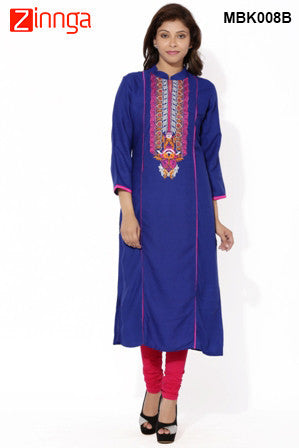 MIUS FASHION-Women's Beautiful Cotton Stitched Kurti - MBK008B