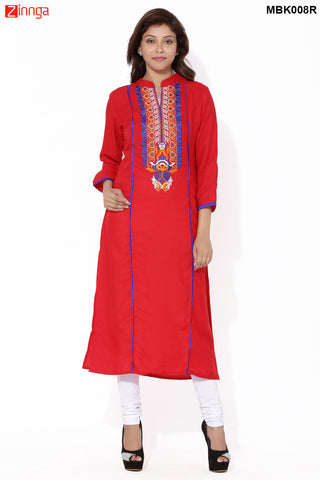 MIUS FASHION-Women's Beautiful Cotton Stitched Kurti - MBK008R
