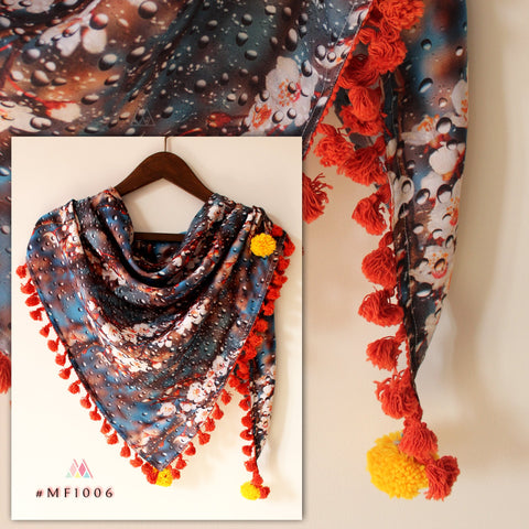Multi Color Polyester Stole - MF1006