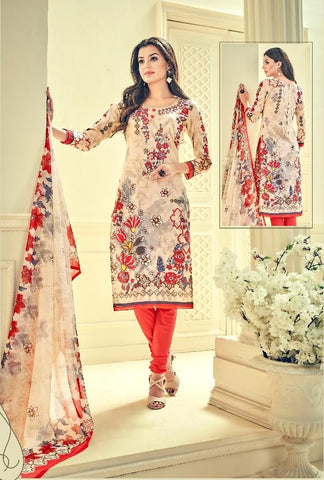 Multi Color Premium Lawn Cotton UnStitched Salwar - RJKFXHUM3004