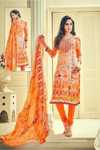 Multi Color Premium Lawn Cotton UnStitched Salwar - RJKFXHUM3005