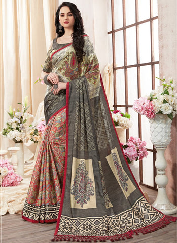 Multi Color Kanjeevaram Silk Saree - RS1439