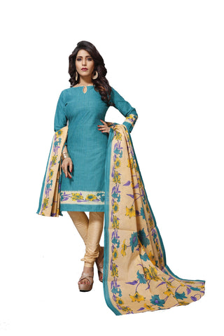 Blue Color Cotton  Stitched Salwar  - Raazi-1007