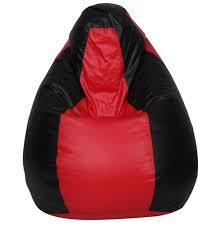 Red and Black Color Bean Bag Cover With Out Bean - RegularBeanBag-14