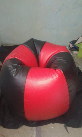 Red and Black Color Bean Bag Cover With Out Bean - RegularBeanBag-15