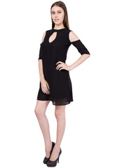 Black Color Georgette ReadyMade Dress  - SC-DRESS-55