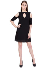 Black Color Georgette ReadyMade Dress