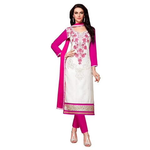 White Color Cotton Un Stitched Salwar - SFST-MSMEXT1412