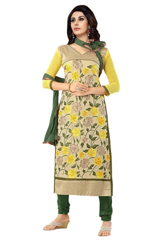 Yellow Color Georgette Un Stitched Salwar - SFST-MSMINYT903