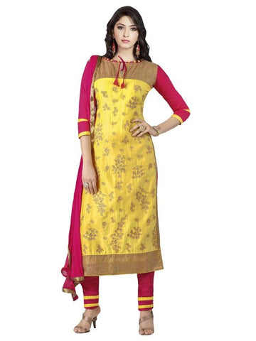 Yellow Color Cotton Un Stitched Salwar - SFST-MSMMTN2812