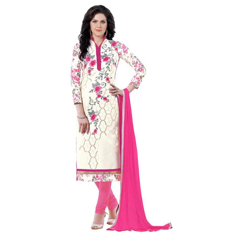 White Color Cotton Un Stitched Salwar - SFST-MSMQN1352