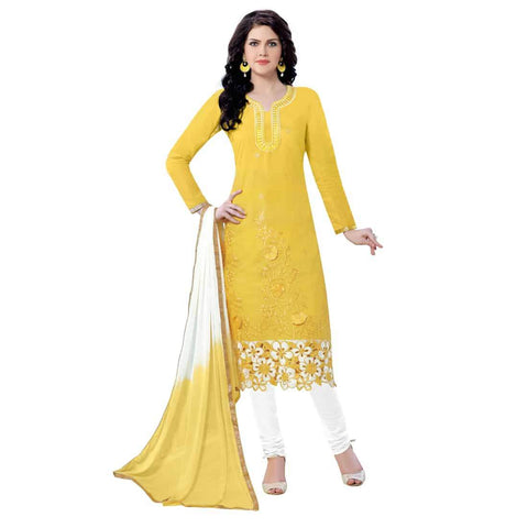Yellow Color Cotton Un Stitched Salwar - SFST-MSMQN1361