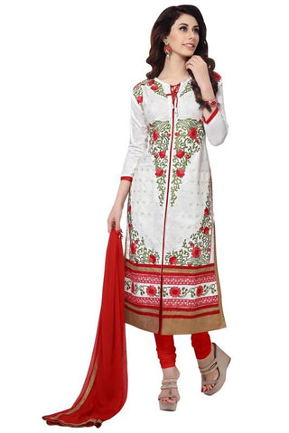White  Color Cotton Un Stitched Salwar - SFST-MSMSBA41051