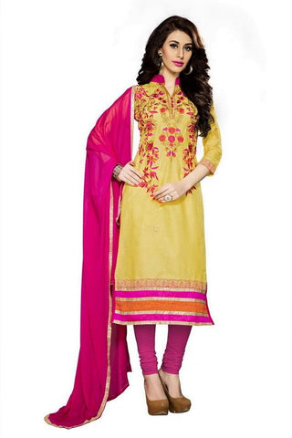 Yellow Color Cotton Un Stitched Salwar - SFST-MSMSNH1258