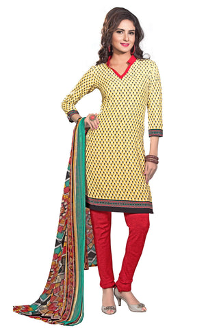 Yellow Color Crepe Un Stitched Salwar - SFST-SNSMRGV8005
