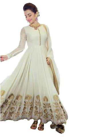 White Color Georgette Un Stitched Salwar - SFST-SNSMSF601