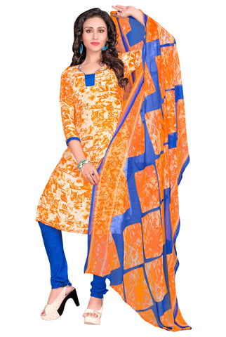 Multi Color Crepe Un Stitched Salwar - SFST-VPIS66002