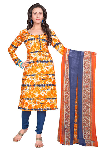 Multi Color Crepe Un Stitched Salwar - SFST-VPIS66014