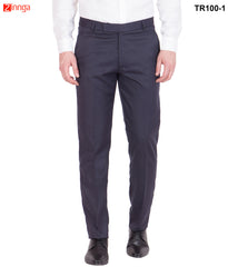 AMERICAN-ELM- Men's Cotton Formal Trouser- Navy Blue - TR100-1