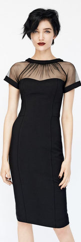 Black Color Lycra Stitched Dress - VS008