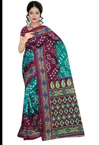 Multi Color Art Silk Saree - VSSPSNPR1506A