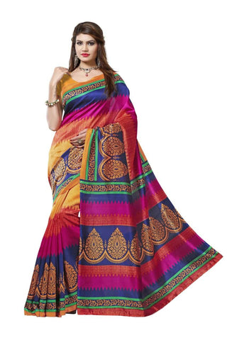 Multi Color Art Silk Saree - VSSPSNPR1514