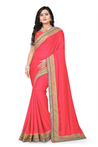 Gajari Color Barfi Art Silk Saree - Varuni-204