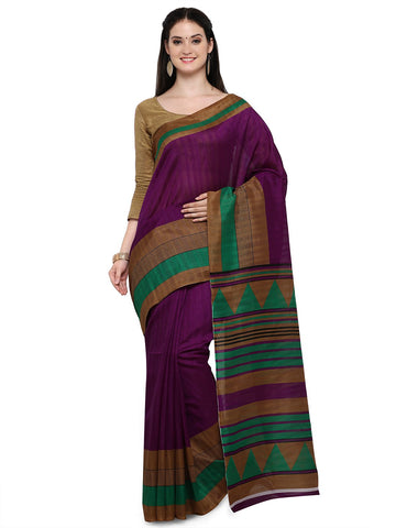 Magenta Color Bhagalpuri Saree  - YNF-28649