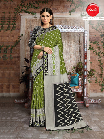 Light Green Color Myra Silk Saree - AHMYR03