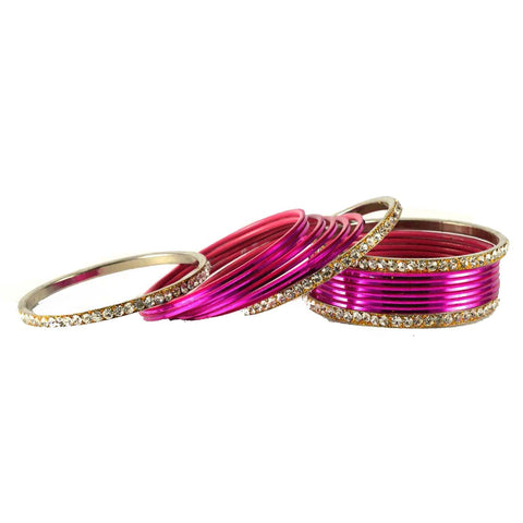 Rani Color Stone Stud Brass Bangle - ban1480