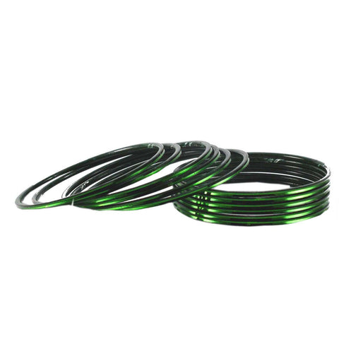Green Color Plain Brass Bangle - ban1499