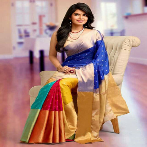 Multi Color Art Silk Saree - pranavi-001
