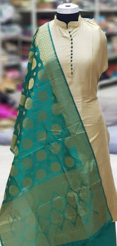 Beige Color Silk Unstitched Salwar - vol009-3rama