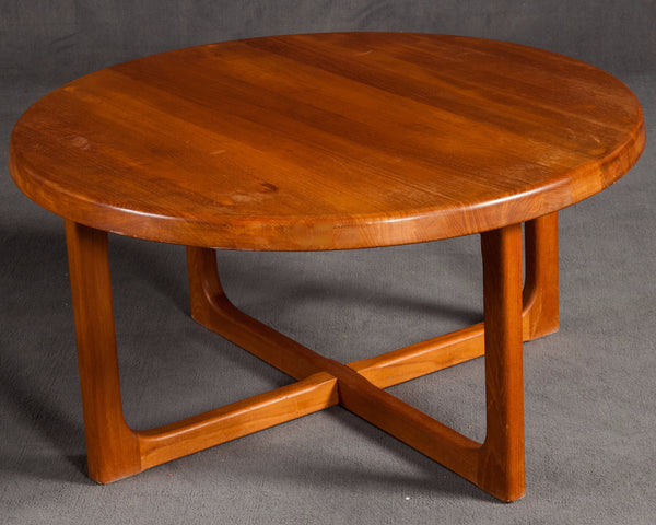 Solid Teak Round Coffee Table