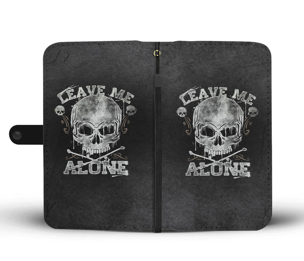 Skullistic Leave Me Alone Phone Wallet Case