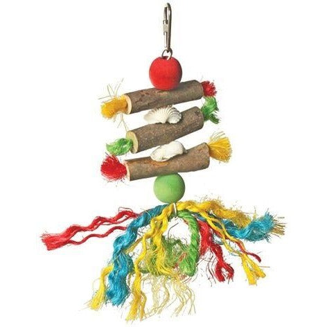 Bird Toy Wood and Rope 17CM x 8CM-PARROTBOX PET SUPPLIES