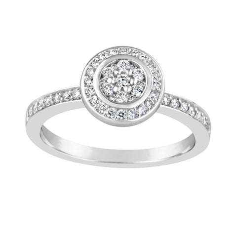 White Gold & Diamond Engagement Ring E1107WG