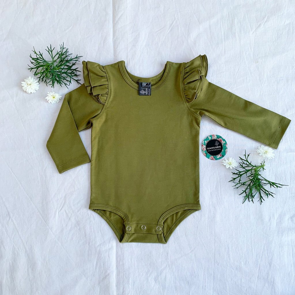 Dried herb long sleeve flutter - Toots Kids