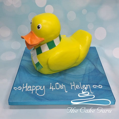 Football Fan Rubber Duckie Cake