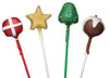 Pack of 60 Plastic Christmas Coloured Cake Pop Sticks